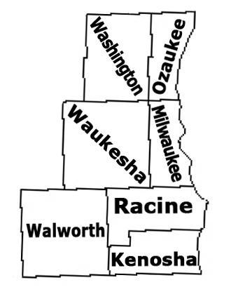 Southeast Wisconsin Map
